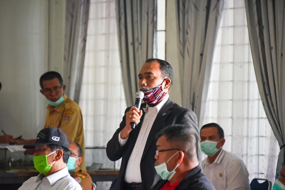 Bupati Humbahas Pimpin Rapat Percepatan Penanggulangan Covid-19 dan Pemberdayaan Ekonomi Masyarakat Petani Doloksanggul