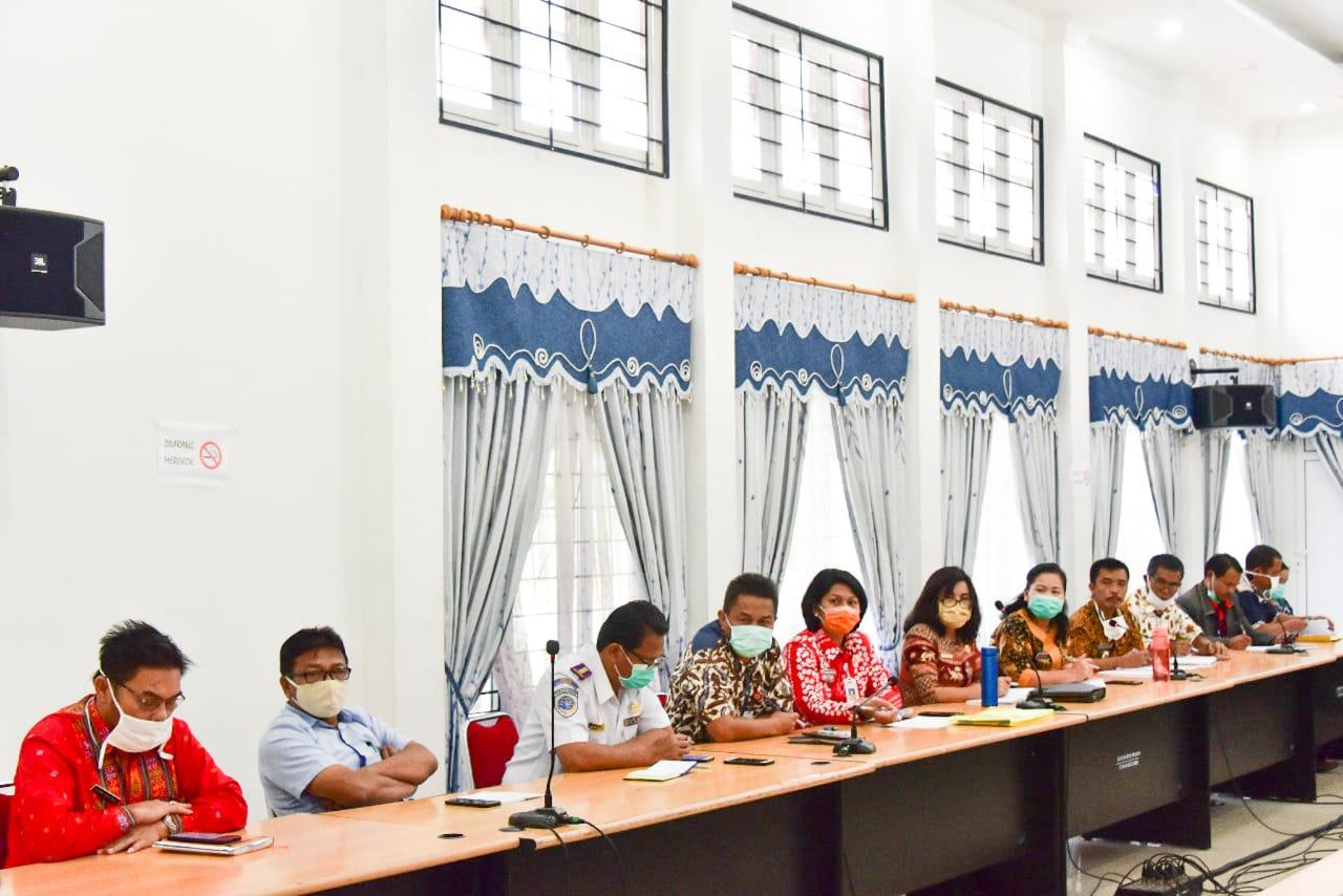 Gugus Tugas Penanganan Covid19 Humbahas Adakan Rapat Evaluasi Dipimpin Sekretaris Daerah