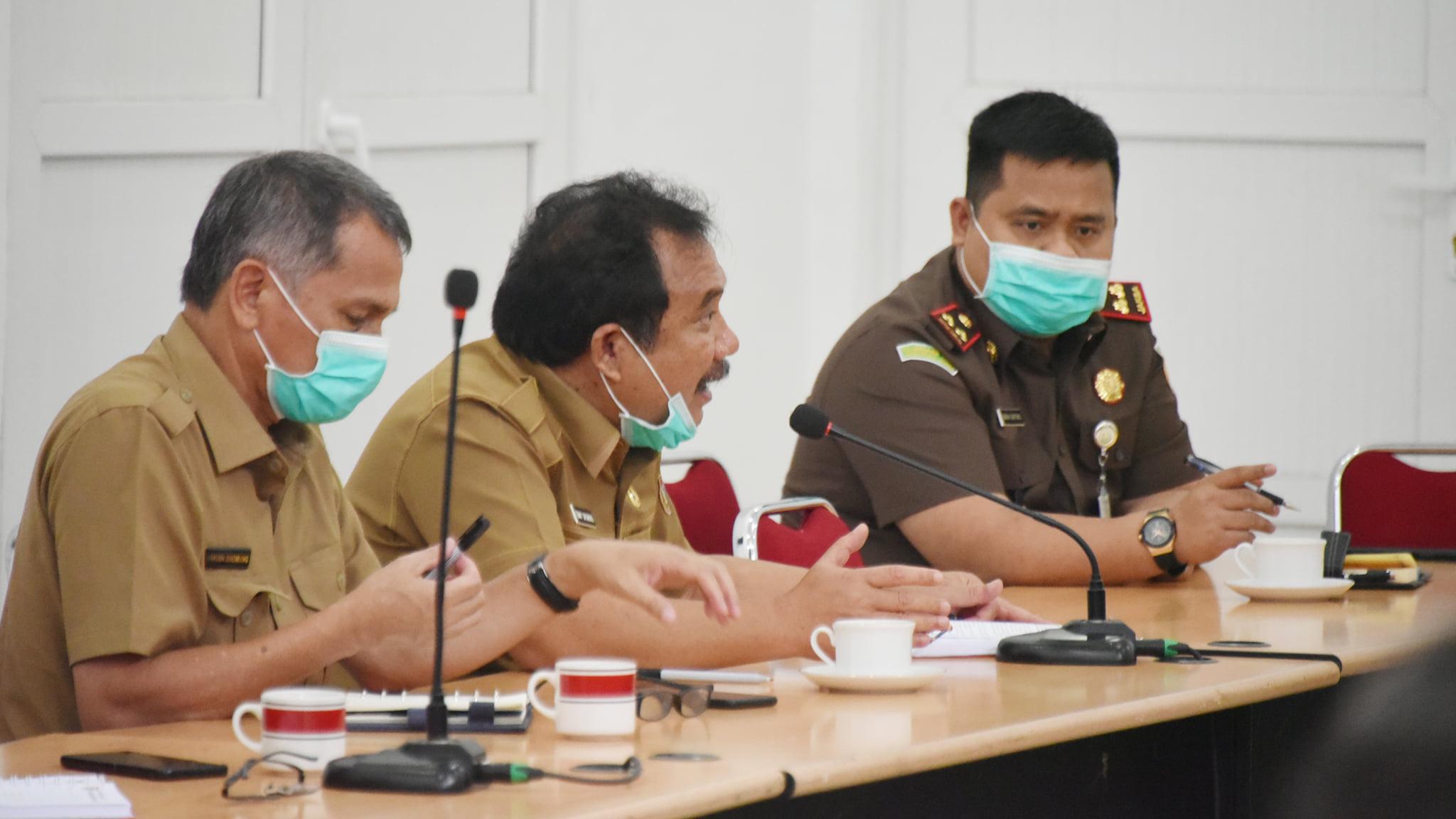 Rapat Persiapan Rencana Pemberian Bansos Dihadiri Forkopimda Humbahas