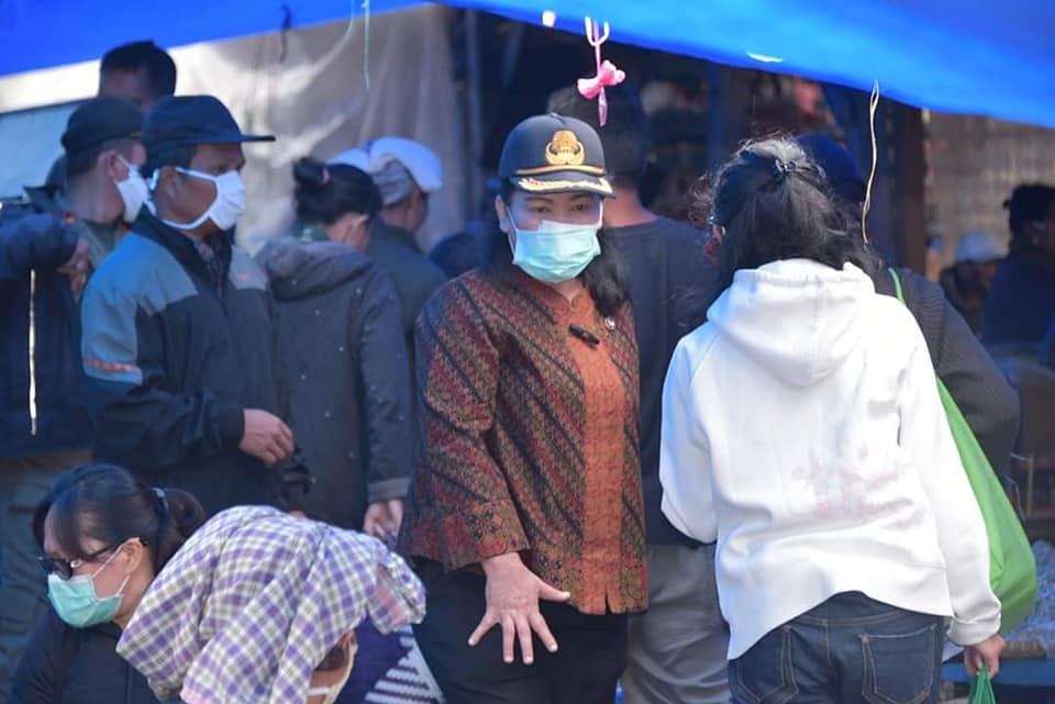 Pemkab Humbahas Pantau Protokol Kesehatan Penerapan New Normal di Pasar Doloksanggul