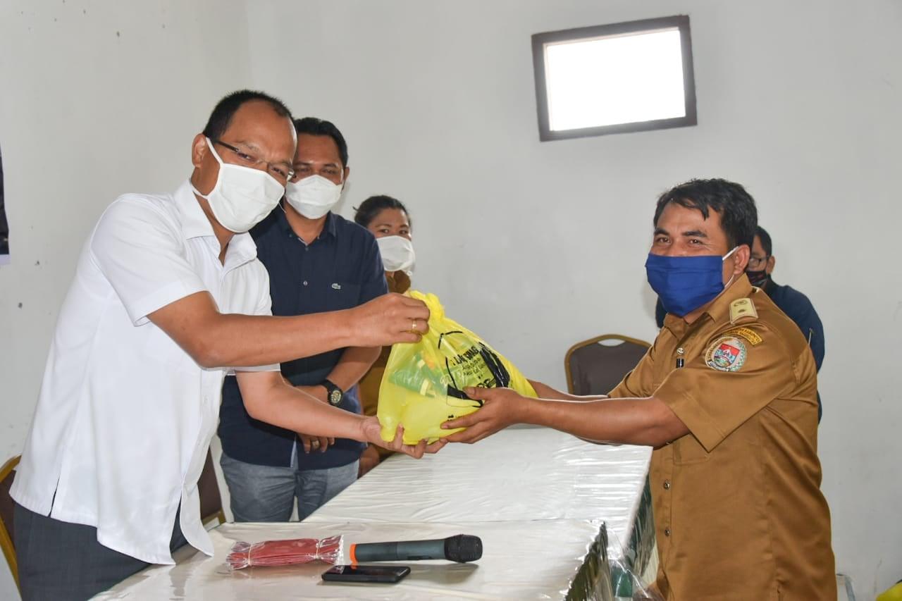 Pemkab Humbahas Terima Sembako dari Anggota DPR RI Bekerja Sama Dengan Satgas Covid-19 BUMN