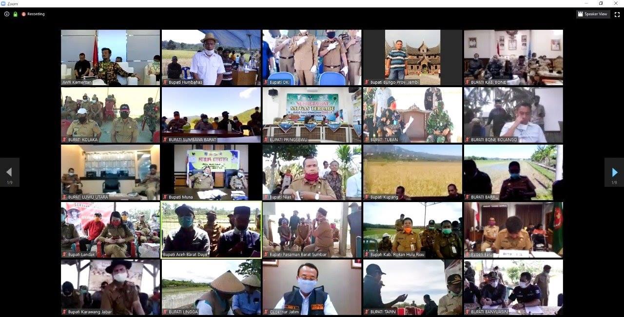 Bupati Humbahas vidcon dengan Menteri Pertanian bahas Ketahanan Pangan Nasional